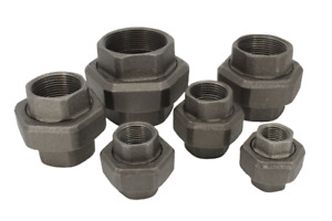 """Black Malleable Iron Union Pipe Fitting (BSP) / Union 15mm - 50mm (1/2"""" - 2"""")"""