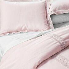 Simply Shabby Chic® Pink Linen Blend Crochet Pillow KING Sham (1)