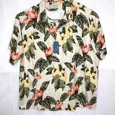 Caribbean Silk Blend Short Sleeve Shirt Hawaiian Aloha $89 4XB