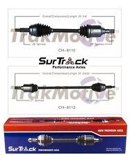 For Dodge Caliber FWD 2.0L L4 07-11 Pair of Front CV Axle Shafts SurTrack Set