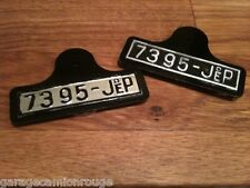 Plaque d'immatriculation arrière grise pour Rolls Royce & Hispano Suiza de JEP