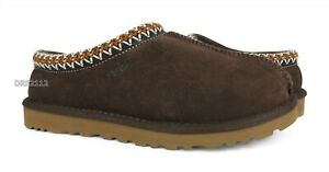 UGG Tasman Chocolate Suede Fur Slippers Mens Size 12 *NEW*