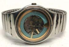 Swatch Swiss Light Blue Gear Stainless Wrist Watch