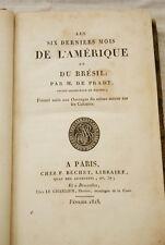 DE PRADT-LES SIX DERNIERS MOIS DE L'AMERIQUE ET DU BRESIL 1818 HAITI VENEZUELA