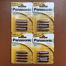 16 x Panasonic AAA Batteries alkaline Power LR6 1.5V Lasting Energy Longest Exp