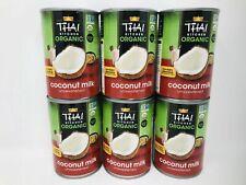 Thai Kitchen Organic Coconut Milk, Unsweetened - 6 Count, 13.66 fl.oz. per can