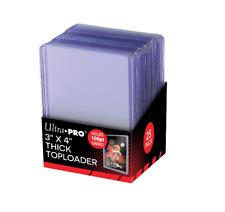 """Ultra Pro SUPER THICK 100pt Toploaders 25pk Toploader Top Loaders Loader 3""""x4"""""""