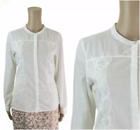Marks & Spencer M&S Embroidered White Office Top Blouse
