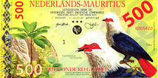 Banconota NEDERLANDS MAURITIUS 500 Gulden Fun-Fantasy Note 2016 UNC