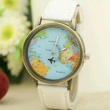 Design Mini World Map Watch Men Women Fashion Watch