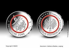 5 Euro 2017 Deutschland - Klimazonen der Erde - Tropische Zone - Spiegelglanz