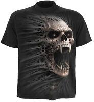 Spiral Direct CAST OUT T-Shirt Fangs/Horror/Skulls/Metal/Biker/Top/Tee/Death