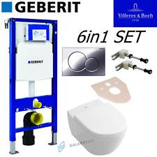 GEBERIT DUOFIX UP320 FRAME + VILLEROY & BOCH SUBWAY 2.0 COMPACT WALL HUNG TOILET