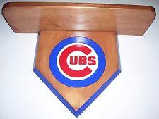 bobble heads Chicago Cubs  display shelf  cherry stain  shelf 18 x 51/2
