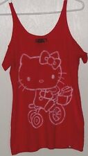Vans x Hello Kitty Red T-Shirt Tank Top Size Small Womens NEW!