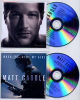 MATT CARDLE Porcelain UK 10-trk promo test CD + When You... CD single Melanie C