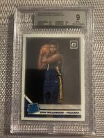 2019-20 DONRUSS OPTIC ZION WILLIAMSON RATED ROOKIE BGS 9 MINT 2 X 9.5