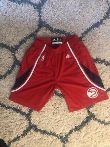 Adidas Men's Sz L Atlanta Hawks NBA Basketball Shorts Red