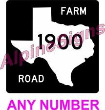 """Texas State Route Interstate Highway Sign ANY NUMBER - 12""""x12"""""""