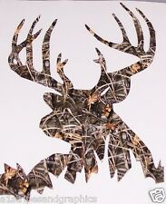 REAL TREE M4 CAMO BACK WOODS Buck Deer Hunting Decal Tailgate Sticker Decals