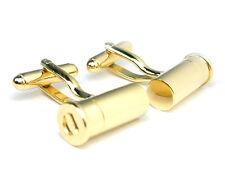 Gold Tone Shotgun Bullet Cufflinks cuff links #C-116