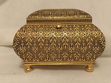 Vintage 1991  Damascene 24k Gold Jewelry Box - Juan Oliva Moreno