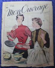MON OUVRAGE - n°65 de 1954 - Broderie...