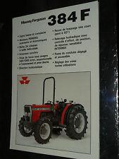 Prospectus MASSEY FERGUSSON 384F  Tracteur tractor traktor brochure prospekt