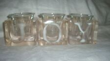JOY VOTIVE CANDLE HOLDERS