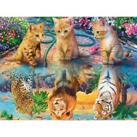 DIY 5D Diamond Painting Tiger and Cat Embroidery Cross Stitch Art Wall Hom Y3R3