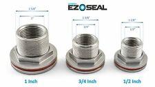 "MiniBrew EZ Seal Stainless Steel Weldless Bulkhead Tank Fitting 1/2"", 3/4"", 1"""