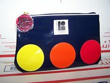 Women's Estee Lauder Navy Blue Cosmetic Makeup Plastic Bag / Lisa Perry Polkadot