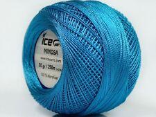 Lot of 6 Skeins Ice Yarns MIMOSA (100% Microfiber) Wool Light Blue