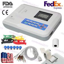 Digital 1 channel 12-leads ECG/EKG machine Electrocardiograph Printer,USA FedEx