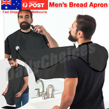 Beard Whiskers Bib Men's Facial Hair Trimmings Catcher Shaving Apron Cape Cloth