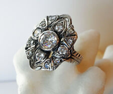 Bella Twilight Ring - Solid Sterling - CZ's - Wedding - Engagement - Art Deco