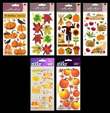 U Choose Sticko Stickers Halloween Pumpkins Thanksgiving Fall Leaves Scarecrow