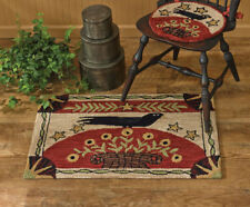 """Folk Crow Hand-Hooked Rug by Park Designs - 24"""" x 36"""""""