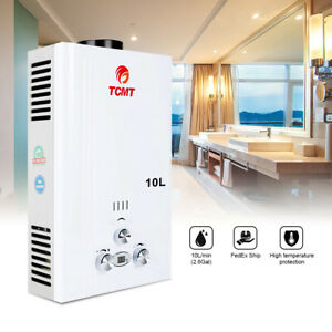 10L Tankless Hot Water Heater Propane Gas LPG Instant On Demand Whole Family