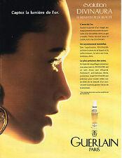 PUBLICITE ADVERTISING 084  1990  GUERLAIN  cosmétiques OR 2