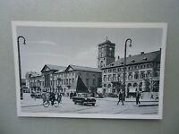 Ansichtskarte Karlsruhe i.B. Marktplatz Pyramide 40/50er??