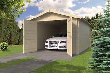 Holzgarage + Doppeltor 350x530 cm Gartenhaus Einzelgarage Garage Holzhaus Holz