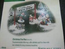 Dept. 56 North Pole Christmas Fun Run #56434 6 piece set New in Box