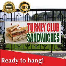 Turkey Club Sandwiches Banner Vinyl / Mesh Banner Sign Flag Flag Many Sizes