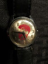 Vintage Helbros? JERRY LEWIS Wrist Watch w/ Black Band (Not Working) VG/FN 5.0