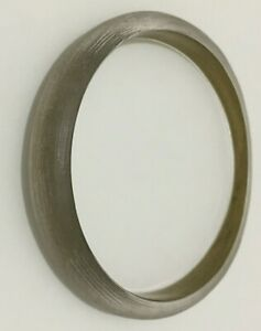 Alexis Bittar Lucite Clear Frosted Gold Tapered Bangle Bracelet