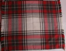 """New Pottery Barn Hamilton Plaid 20"""" pillow cover red gray ivory *qty available*"""
