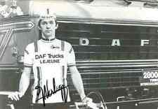JACQUES VERBRUGGE 1979 team DAF Lejeune Trucks Signed Autographe cycling Signé