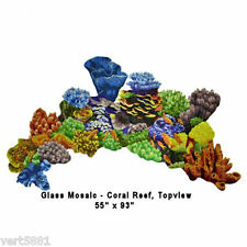 Ocean Coral Reef Glass Tile Swimming Pool Mosaic Bar Top Wall Art Bath Deck