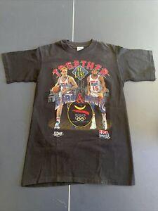 USA Basketball '92 Olympics Bird and Magic T-shirt size Medium